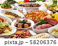 ブッフェ パーティー パーティー料理 料理集合 料理 ディナー 肉料理 ローストビーフ パエリア  58206376