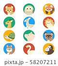 動物 顔 アイコン セット 2 58207211