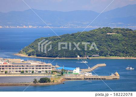 淡路橋立(成ヶ島/なるがしま)と由良港(生石公園、生石岬展望台より) 58222078