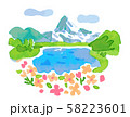 スイス 湖と花 58223601