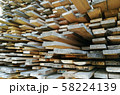 lumber at a sawmill or building materials store 58224139