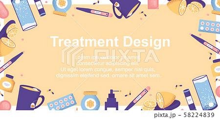 Autumn illness season design. Cold  58224839