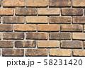 レンガ壁の背景素材_テクスチャ 58231420