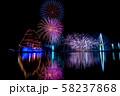 富山県 海王丸パーク 富山新港花火大会 船のイルミネーションと花火 比較明合成 58237868