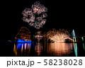富山県 海王丸パーク 富山新港花火大会 船のイルミネーションと花火 比較明合成 58238028