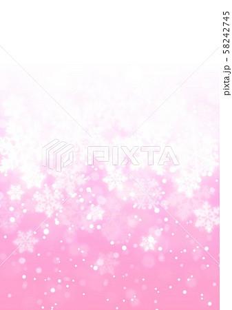 ピンク色雪柄 58242745