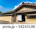 福井県 一乗谷朝倉氏遺跡 町並みと復元建物 58243196