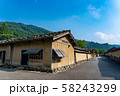 福井県 一乗谷朝倉氏遺跡 町並みと復元建物 58243299