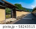 福井県 一乗谷朝倉氏遺跡 町並みと復元建物 58243515