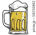 ビール/ジョッキ 58250862