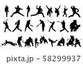 スポーツシルエット野球 58299937