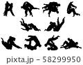スポーツシルエット柔道 58299950