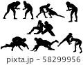 スポーツシルエットレスリング 58299956