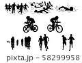 スポーツシルエットトライアスロン 58299958