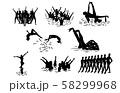 スポーツシルエットシンクロナイズドスイミング 58299968