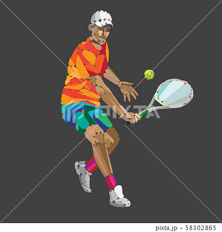 Tennis player, abstract geometric vector illustration eps10 58302865