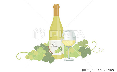 白ワインとブドウ 58321469