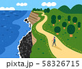 Happy summer travel illustration 004 58326715