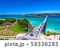 《山口県》夏の角島大橋 58336283