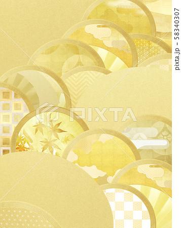 背景-和-和風-和柄-和紙-金箔 58340307