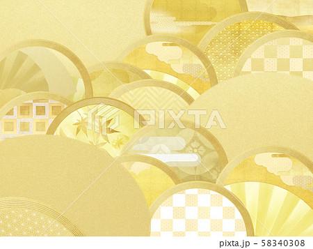 背景-和-和風-和柄-和紙-金箔 58340308