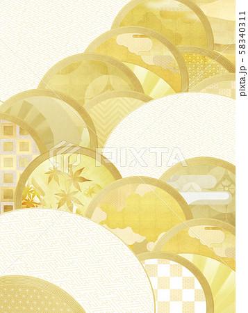 背景-和-和風-和柄-和紙-金箔 58340311