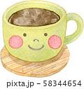 コーヒー 顔つき 58344654