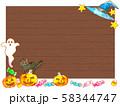 ハロウィンかぼちゃと看板 58344747