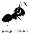 蟻 キャラクター ベクター イラスト 58345697