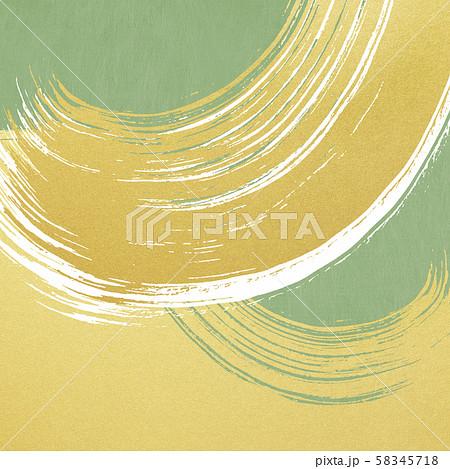 背景-和-和風-和柄-和紙-金箔-波-筆-緑 58345718