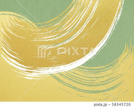 背景-和-和風-和柄-和紙-金箔-波-筆-緑 58345720