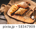 Different kinds of bread with nutrition whole 58347909