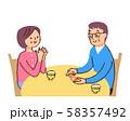 血糖値を測る夫婦 58357492