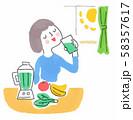 フレッシュな野菜ジュースを飲む女性 58357617