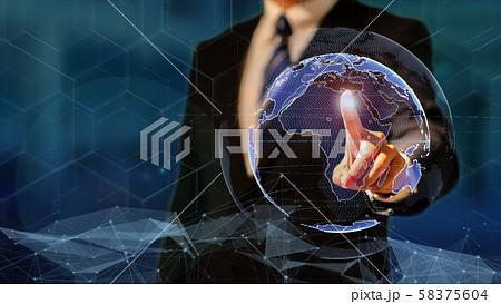 VR 5G AI 人工知能 フィンテック Fintech MaaS ICT ブロックチェーン 3D 58375604
