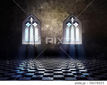 Room with Vintage Window 58376055