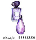 Perfume bottles sketch glamour illustration in a watercolor style isolated element. Watercolour 58388359