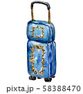 Travel bag sketch glamour illustration in a watercolor style isolated element. Watercolour 58388470