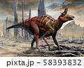 Lambeosaurus from the Cretaceous era scene 3D illustration 58393832