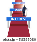Concept of debt and loan in business running 58399080
