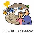 不法投棄 汚染された川 58400098