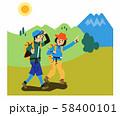 登山するカップル 58400101