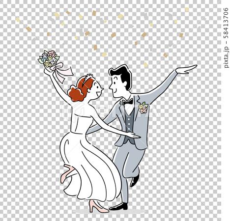 插圖素材:要結婚的男女 58413706