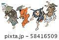 浮世絵-辻踊 58416509
