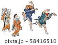 浮世絵-辻踊 58416510