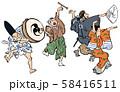 浮世絵-辻踊 58416511