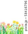 自然風景 花畑 空 水彩 58416796