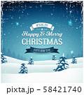 Vintage Christmas Landscape Background 58421740