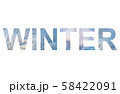 Word WINTER with natural ice pattern 58422091
