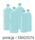 たくさんのペットボトル 58423574